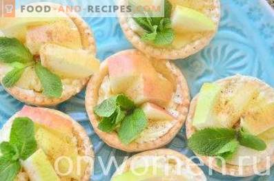 Tartlets with apples and butter cream
