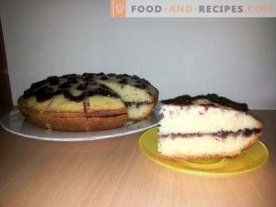 Mayonnaise cake with jam in the slow cooker