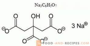 Sodium citrate E331 - harm, application