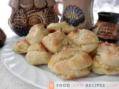 Profiteroles with potato and cheese filling