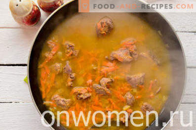 Chicken liver cream soup