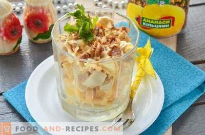 Ladies Caprice Salad with Chicken and Pineapples