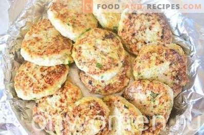 Chicken chops with zucchini and greens