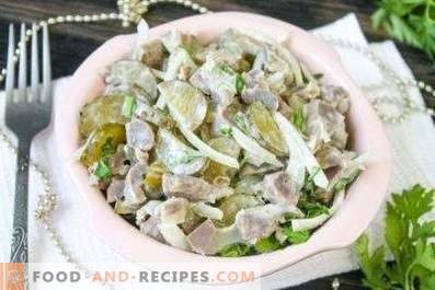 Chicken stomach salads