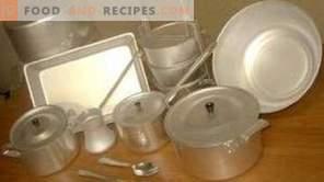 Damage to aluminum cookware