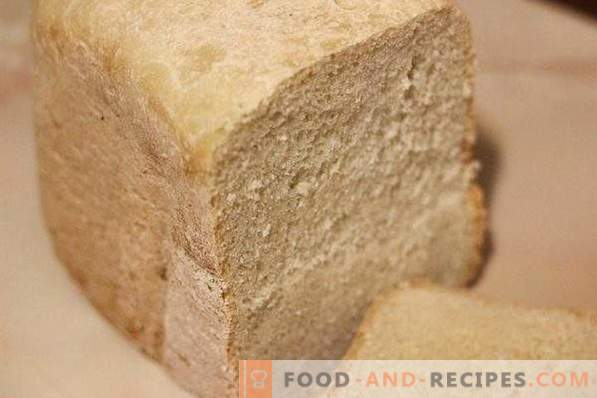 White bread in bread maker