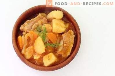 Potato stewed with ribs