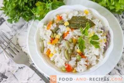 Rice for a side dish in a slow cooker