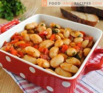 Beans, stewed with vegetables