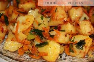 Potato stewed with vegetables