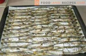 Capelin roasted in the oven