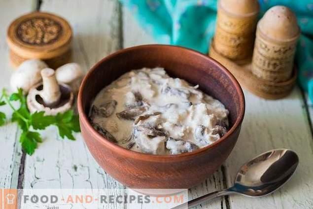 Universal gravy with chicken and mushrooms