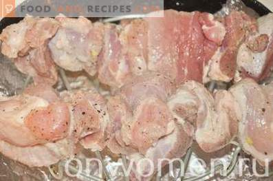 Pork kebab in the oven for two hours
