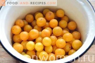 Tkemali from yellow cherry plum for the winter