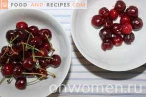 Cottage cheese dessert with sweet cherry