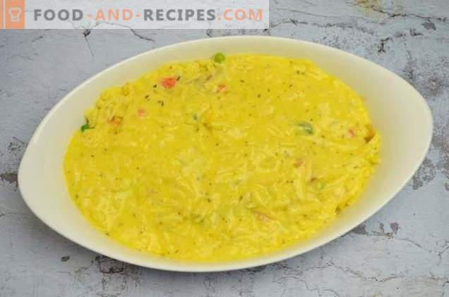 Fish Casserole with Vegetables and Cheese Sauce