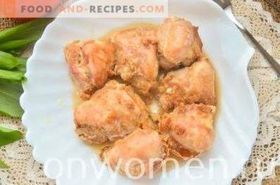 Chicken in cream and soy sauce in the oven