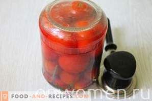 Marinated tomatoes with cherry plum for the winter