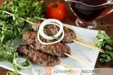 Kebab in the pan