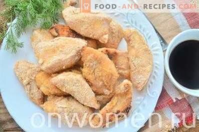 Chicken breast baked in breadcrumbs