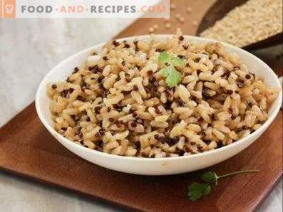 How to cook brown rice for garnish