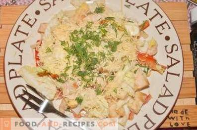 Protein salad with whipped vegetables