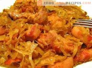 Bigus with meat and cabbage