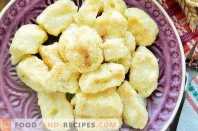Lazy dumplings with cottage cheese