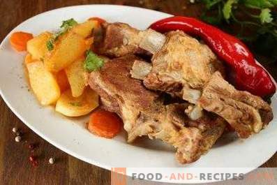 Pork ribs with vegetables