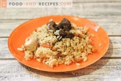 Lamb pilaf in a slow cooker