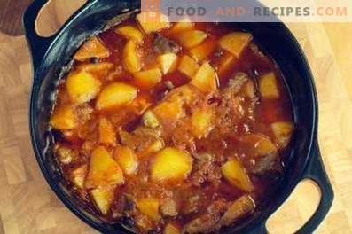 Beef stewed with potatoes
