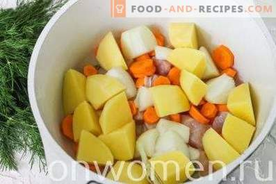 Vegetable stew with chicken fillet