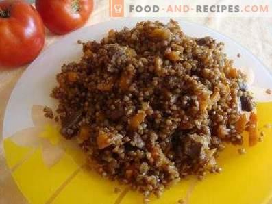 Pilau of buckwheat