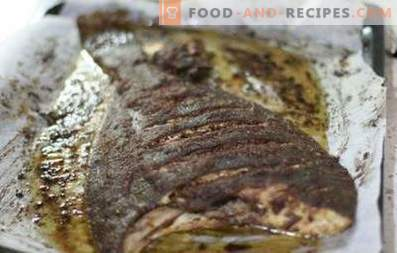 Flounder baked in the oven