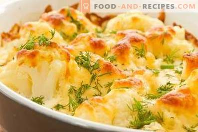 Cauliflower baked in the oven with cheese