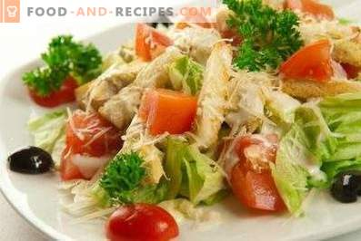 Caesar salad with Chinese cabbage