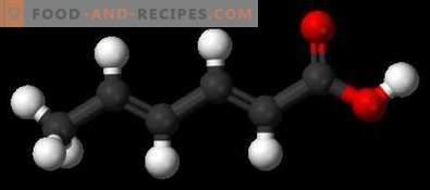 Sorbic acid E200 - harm, application