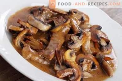 Pork stewed with mushrooms
