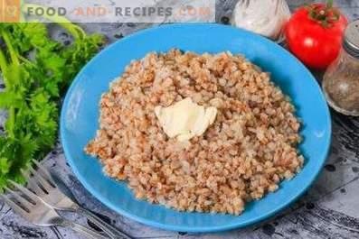 Buckwheat porridge on water in a slow cooker