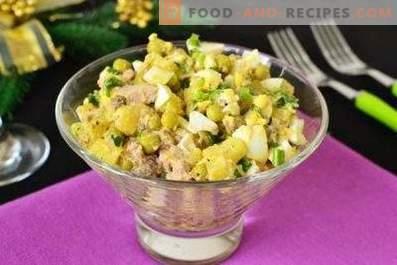 Cod liver salads