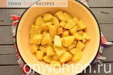 New potatoes in the oven