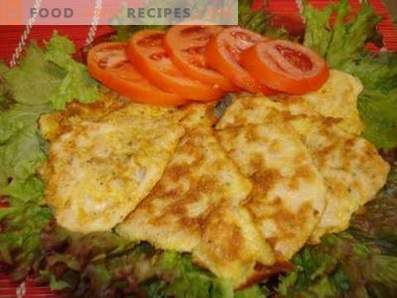 Chicken breast chops in the oven