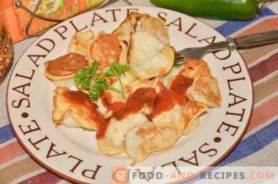 Cauliflower with chicken in batter