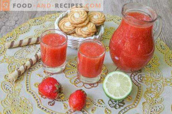 Strawberry liqueur without aging