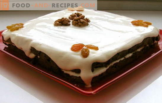 Cake with raisins and nuts: this is very simple! The basic secrets of sponge cake for a cake with raisins, nuts and poppy seeds