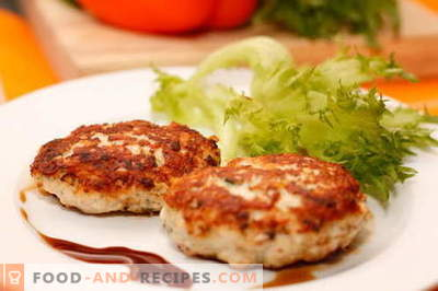 Chicken cutlets are the best recipes. How to cook chicken patties and tasty.