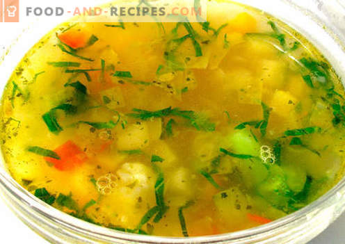 Vegetable broth - the best recipes. How to properly and tasty cook vegetable broth.