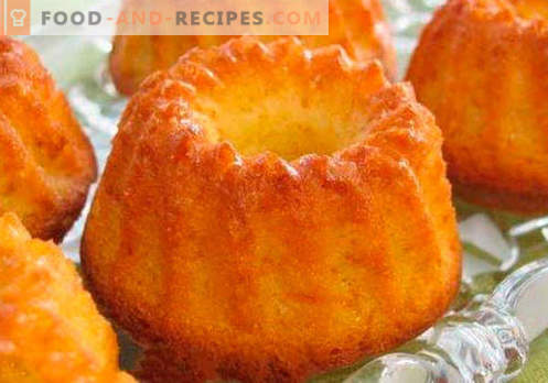 Simple cupcake - the best recipes. How to quickly and tasty cook a simple cupcake.