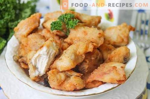 Chicken fillet - crispy and appetizing meat snack