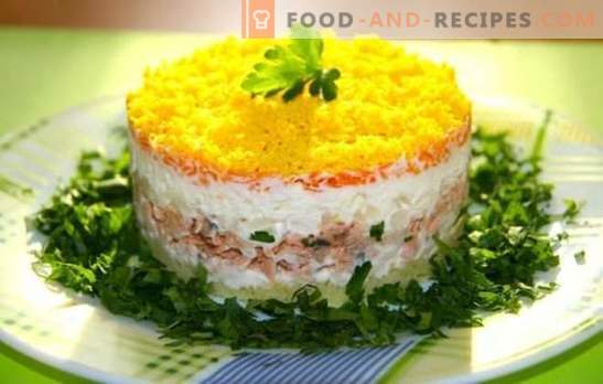 Mimosa salad with canned fish is already a classic! How to cook a salad